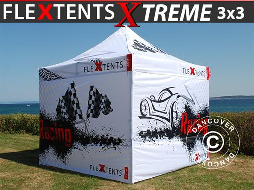Pop up gazebo FleXtents PRO Xtreme Racing 3x3 m, Limited edition