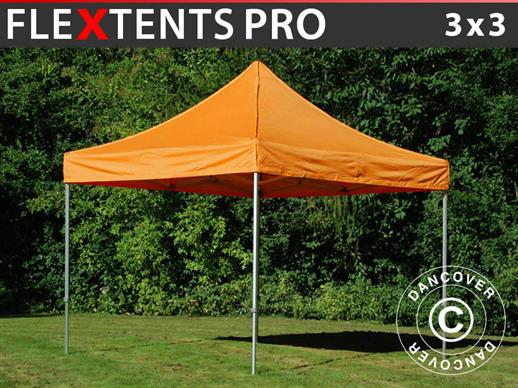 Tente pliante FleXtents PRO 3x3m Orange
