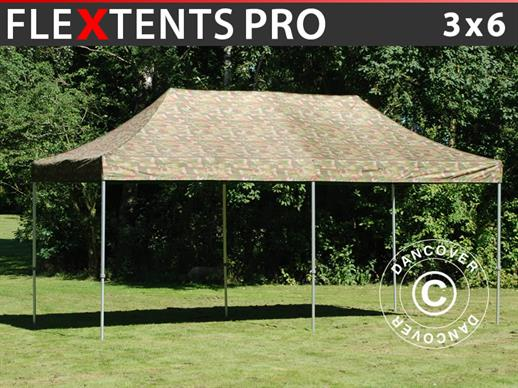 Vouwtent/Easy up tent FleXtents PRO 3x6m Camouflage/Militair