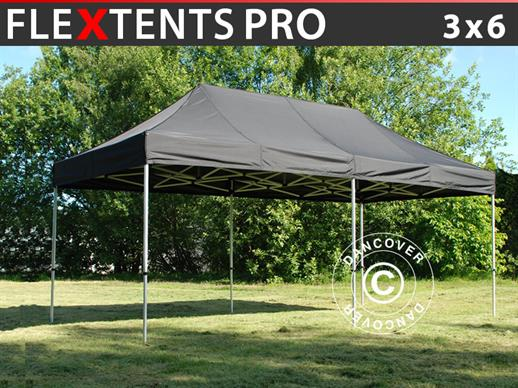 Pop up gazebo FleXtents PRO 3x6m Black