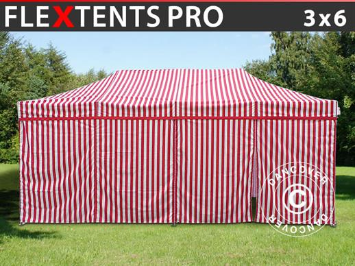 Pop up gazebo FleXtents PRO 3x6 m Striped, incl. 6 sidewalls