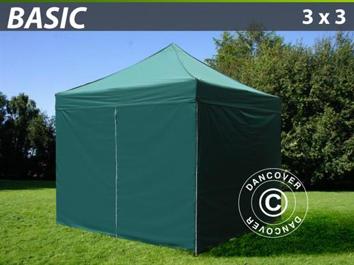 Faltzelt FleXtents 3x3 m Basic Grün