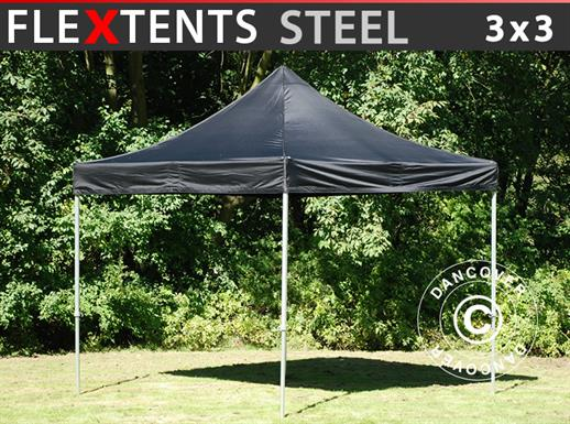 Tenda Dobrável FleXtents Steel 3x3m Preto