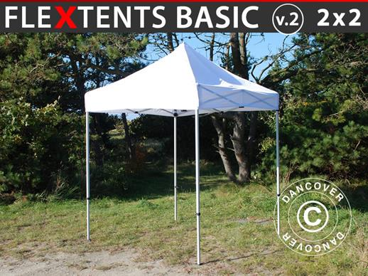 Snabbtält FleXtents Basic v.2, 2x2m Vit