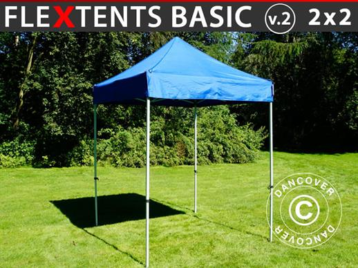 Pop up gazebo FleXtents Basic v.2, 2x2 m Blue