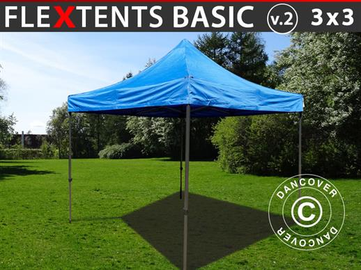 Quick-up telt FleXtents Basic v.2, 3x3m Blå