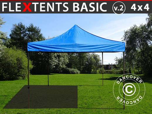 Snabbtält FleXtents Basic v.2, 4x4m Blå