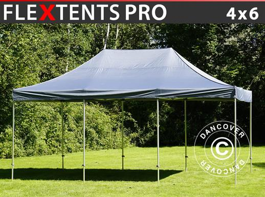Vouwtent/Easy up tent FleXtents PRO 4x6m Grijs
