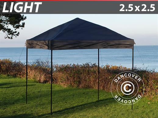 Pop up gazebo FleXtents Light 2.5x2.5 m Black