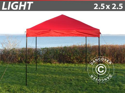 Faltzelt FleXtents Light 2,5x2,5m Rot