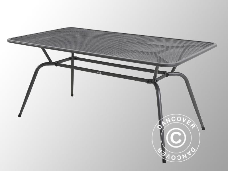 Table De Jardin, Conello, 90X160X74Cm, Gris Métallique