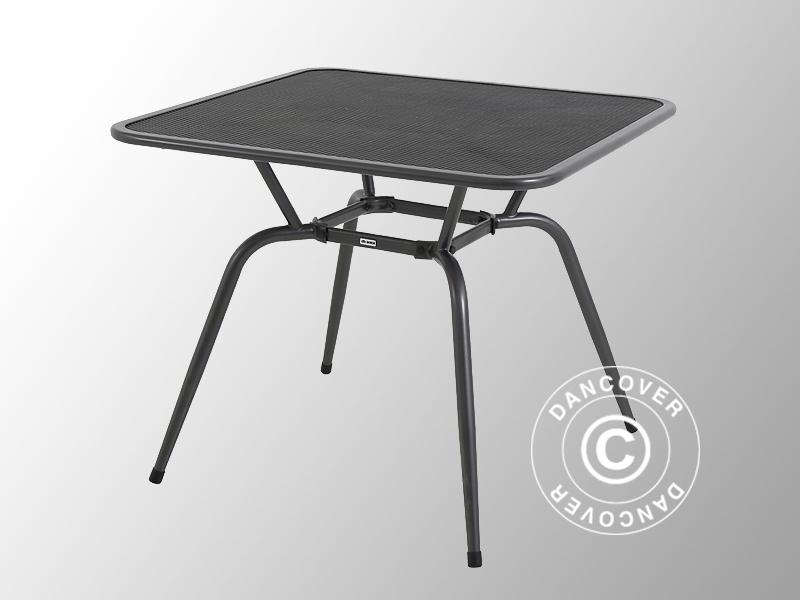 Table De Jardin, Conello, 90X90X74Cm, Gris Métallique