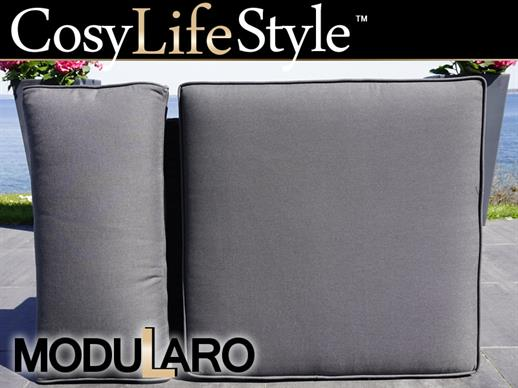 Cushion Covers for armless sofa for Modularo, Black