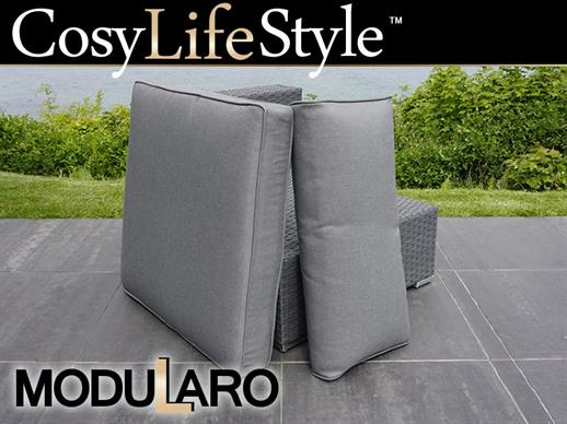 Cushion Covers for armless sofa for Modularo, Grey