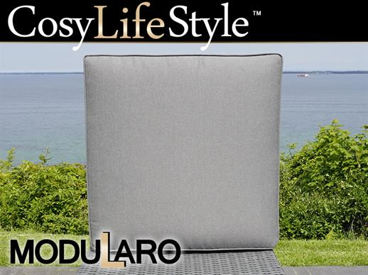 Cushion Cover for square footstool for Modularo, Grey