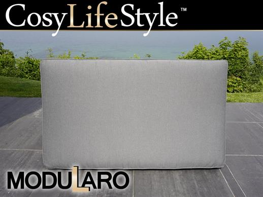 Cushion Cover for rectangular footstool for Modularo, Grey