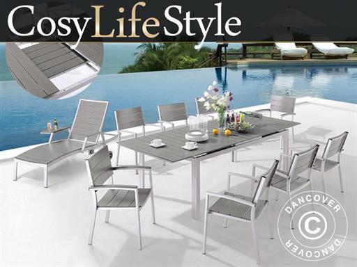 Gartenmobel Set Cosylifestyle 1 Tisch 6 Stuhle Grau