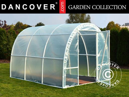 Polytunnel Greenhouse 140, 2.2x5x1.9 m, 11 m², Transparent