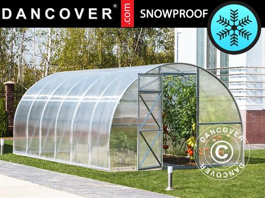 Greenhouse Polycarbonate, Strong 12 m², 3x4 m, Silver