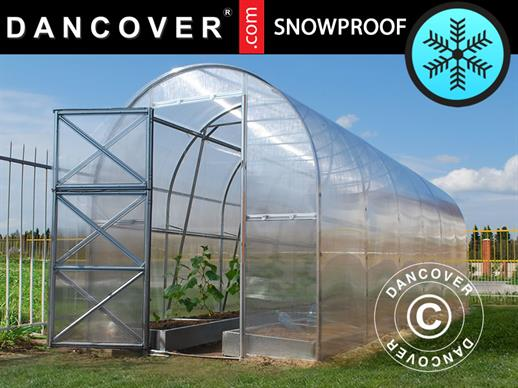 Greenhouse Polycarbonate, Duo 8 m², 2x4 m, Silver
