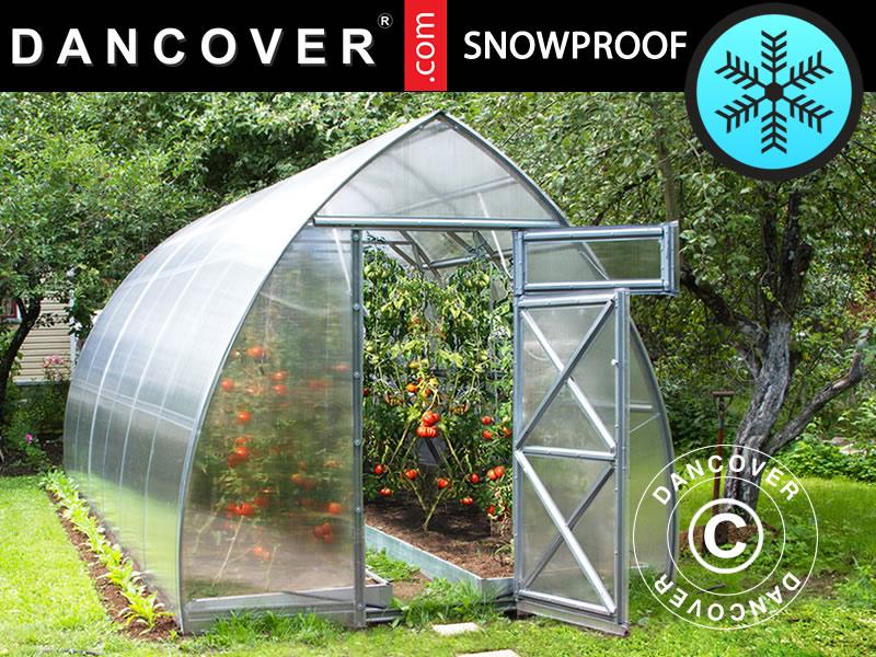 Greenhouse Polycarbonate, Arrow 5 2 m², 2 6x2 m, Silver