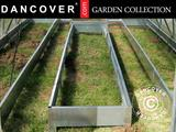 Greenhouse, raised steel bed, 1x2m, Silver