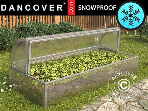 Mini greenhouse Cold Frame LOTOS 1.87 m², 0.89x2.10x0.80 m, Silver