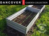 Raised flowerbed, 0.75x1.5x0.3 m, Silver