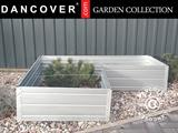 Raised flowerbed, L-shaped, 1.5x1.5x0.3 m, Silver