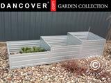 Raised flowerbed, 0.75x2.25x0.3/0.4/0.5 m, Silver