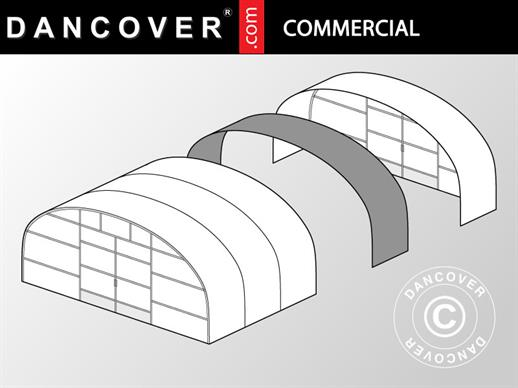 Commercial greenhouse tunnel extension, 9.7x2x3.95 m, Transparent