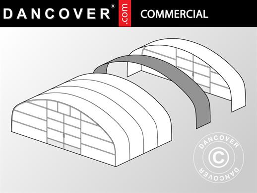 Commercial greenhouse tunnel extension, 12x2x3.95 m, Transparent
