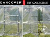 Door w/frame for polytunnel greenhouse, 0.8x1.6 m, Transparent, 1 pc.