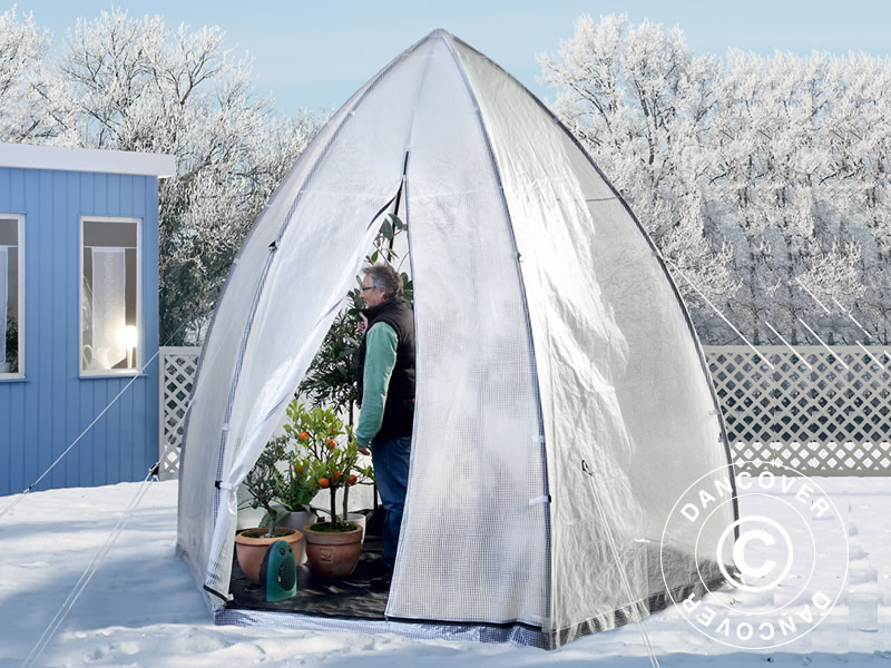 Winter Protection Plant Tent Tropical Island XL Ø3.4x2.8 m & Winter Protection Plant Tent Tropical Island XL Ø3.4x2.8 m ...