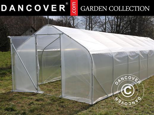 Polytunnel Greenhouse SEMI PRO 3x6.25x2.15 m, Transparent