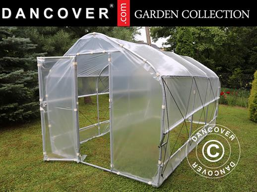 Polytunnel Greenhouse SEMI PRO Plus 2x3.75x2 m, Transparent