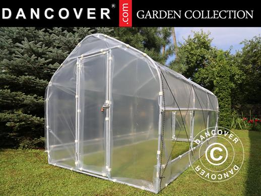 Polytunnel Greenhouse SEMI PRO Plus 3x6.25x2.15 m, Transparent