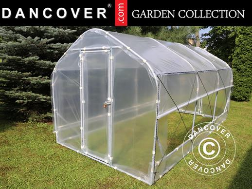 Polytunnel Drivhus SEMI PRO Plus 4x10x2,40m, Transparent