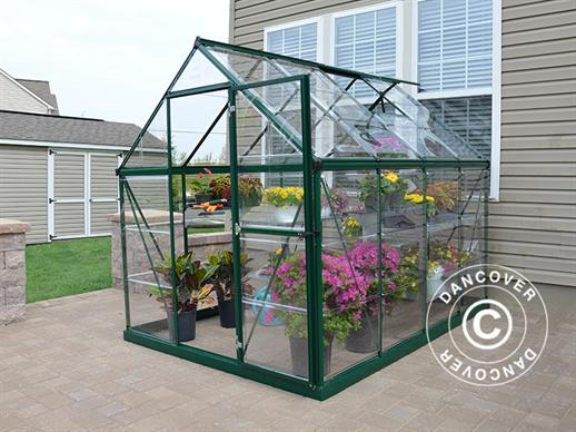 Greenhouse polycarbonate Harmony 4.5m², 1.85x2.47x2.08 m Green