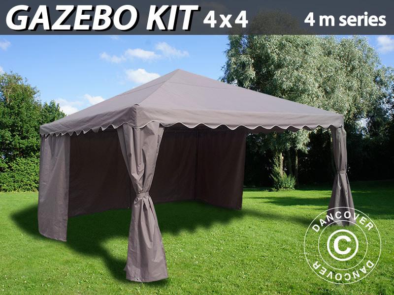 kit tonnelle 4x4m pour tente de r ception s rie 4m sable dancovershop fr. Black Bedroom Furniture Sets. Home Design Ideas