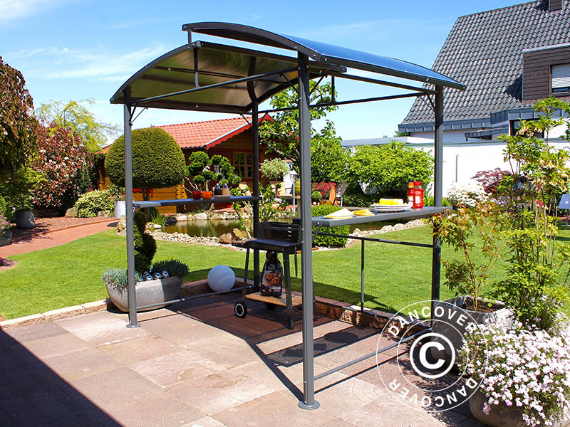 tonnelle pour barbecue 2 33x1 5m dancovershop fr. Black Bedroom Furniture Sets. Home Design Ideas