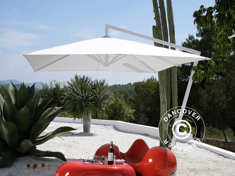 Parasoll rektangulære, parasoll, solskjerm 3x3 m - Dancovershop NO