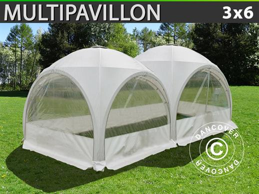 Koepel partytent Multipavillon 3x6m, Wit