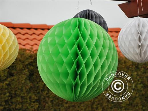 Honeycomb ball, 30 cm, Green, 10 pcs.