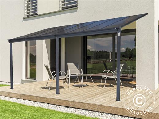 Patio cover Malibu, 3x3.12m, Dark Grey