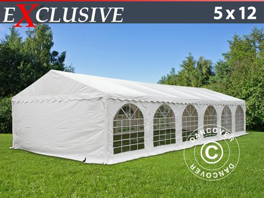 Marquee Exclusive 5x12 m PVC, White