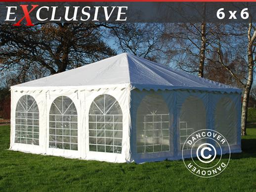 Pagoda Marquee Exclusive 6x6 m PVC, White