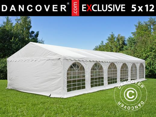 Partytent Exclusive 5x12m PVC, Wit