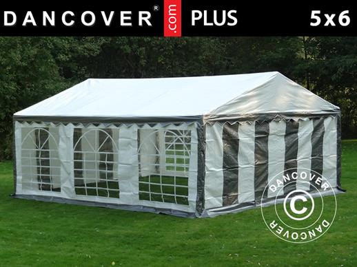 Partytent PLUS 5x6m PE, Grijs/Wit