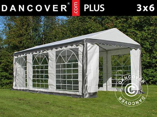 Partytent PLUS 3x6m PE, Grijs/Wit